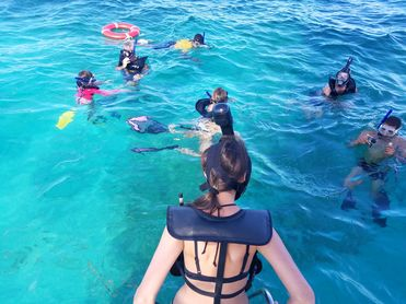 Next stop: snorkeling in the Punta de Maya